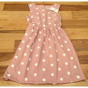 Gap Kids Girls 2XL (13-14) Pink polka dot dress